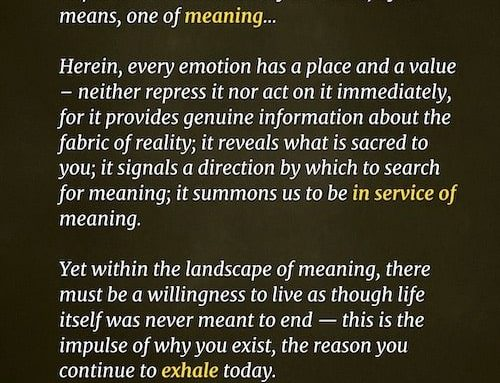 In Service of Meaning